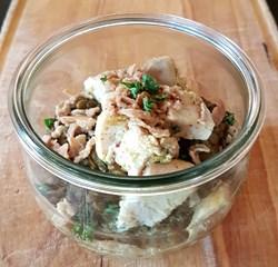 Image de Filet de poulet mariné & dalh de lentilles