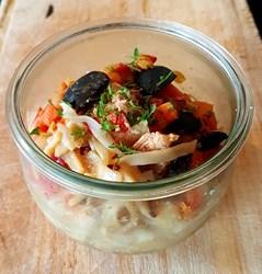 Image de Wok de saumon, Nouilles de Riz, soja & gingembre